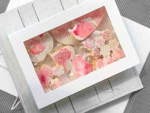 Raspberry pink water colour cookies