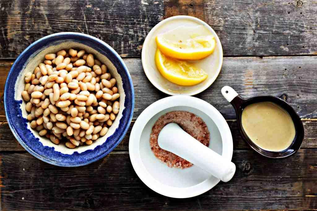 navy bean hummus with preserved lemon | via sweet miscellany