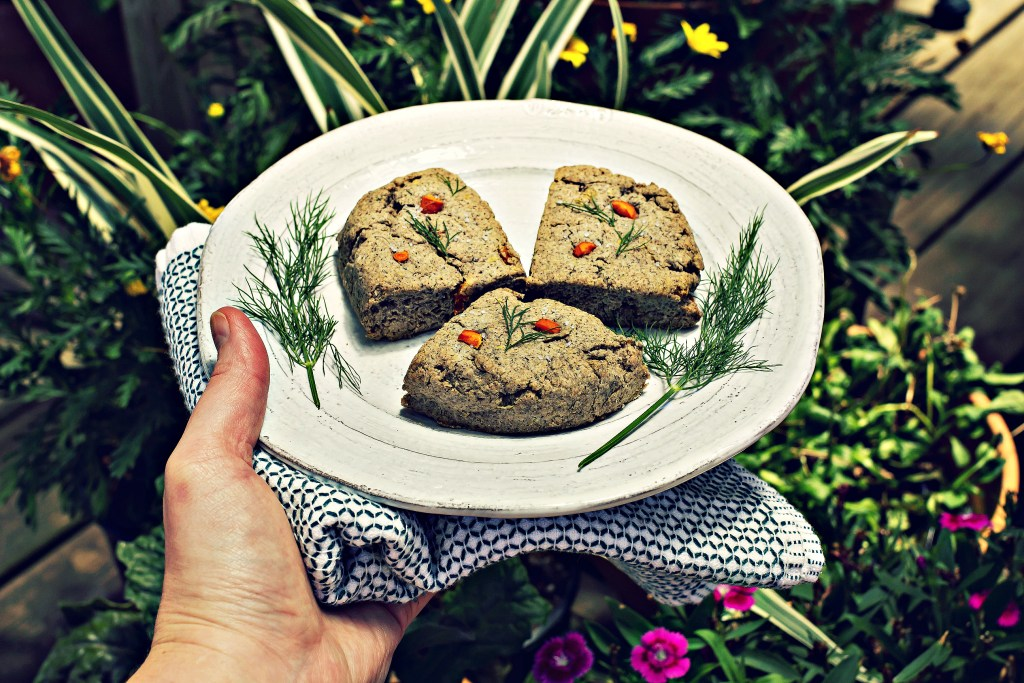 roasted carrot & dill biscuits | vegan gluten free recipe via sweet miscellany