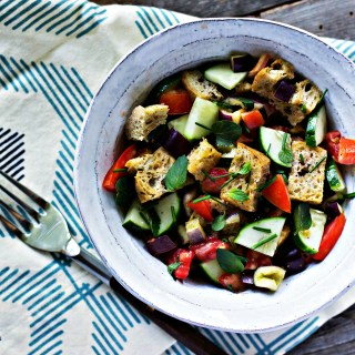 Loam Collaboration: Summer Panzanella | plant based gluten free recipes via sweet miscellany