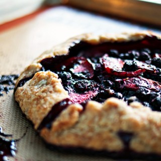a celebratory blueberry & plum pie | gluten free plant based recipes via sweet miscellany