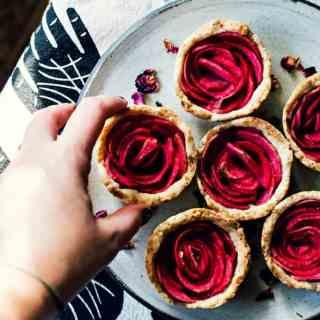 mini rose apple pies | vegan gluten-free recipe via sweet miscellany