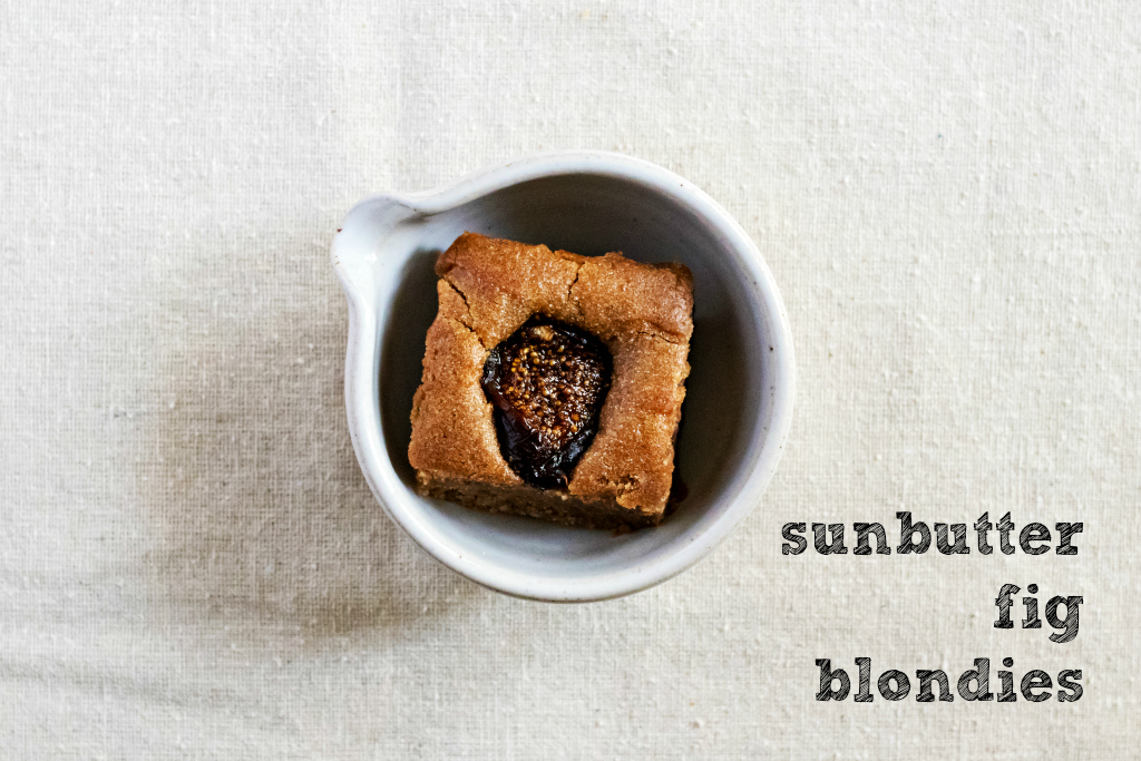 sunbutter fig blondie by sweet miscellany