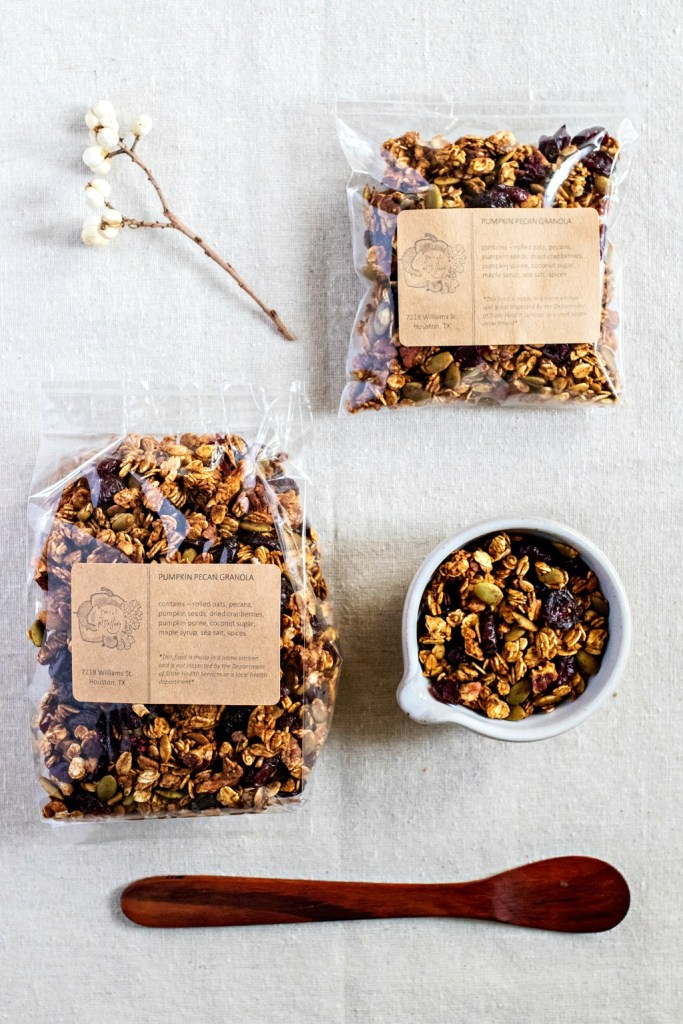 pumpkin pecan granola by sweet miscellany (vegan and gluten free)