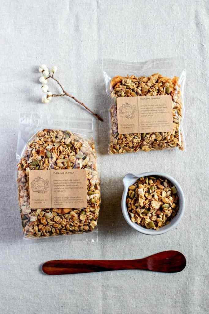 plain jane granola by sweet miscellany (gluten free & vegan)