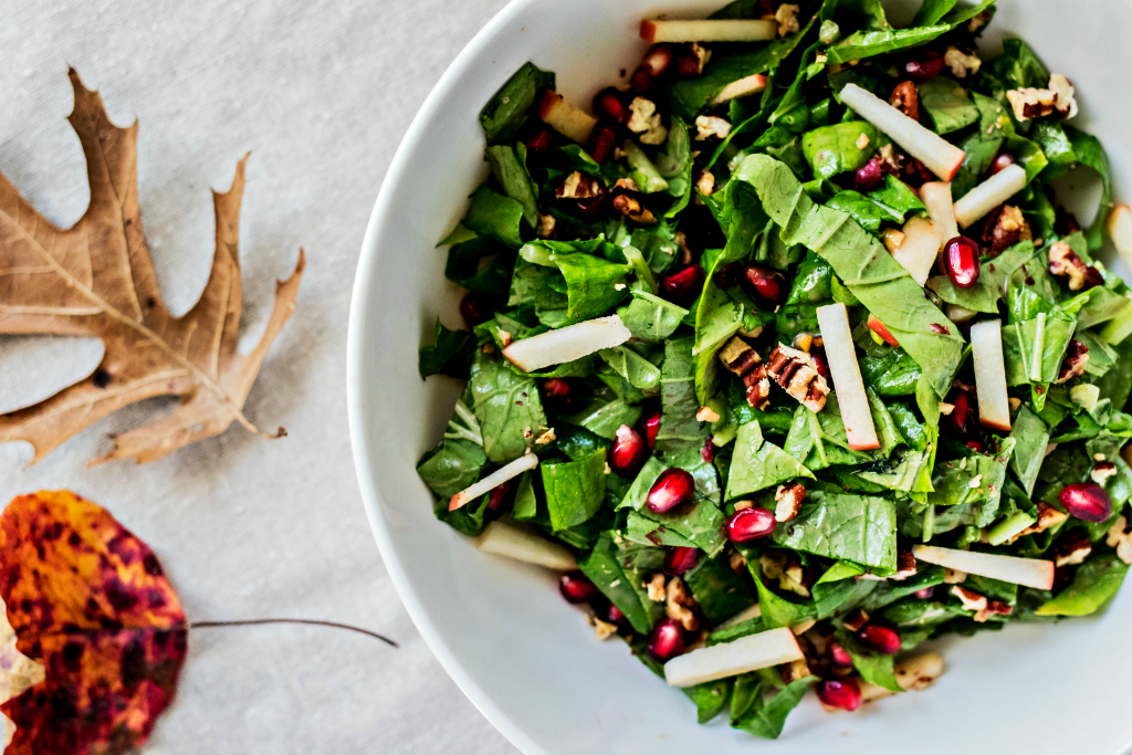 loam collaboration: tendergreen salad with maple dijon vinaigrette | grain free & vegan recipe by sweet miscellany