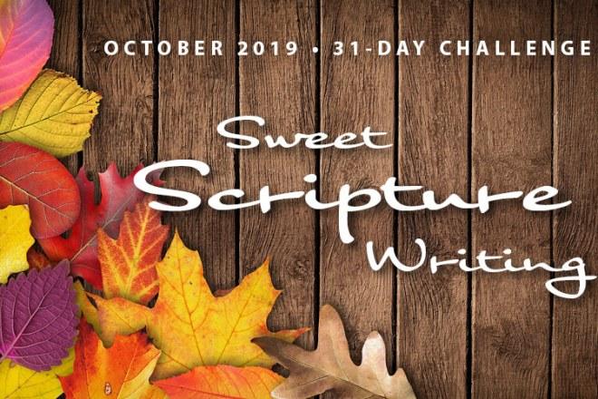 October Scripture Writing