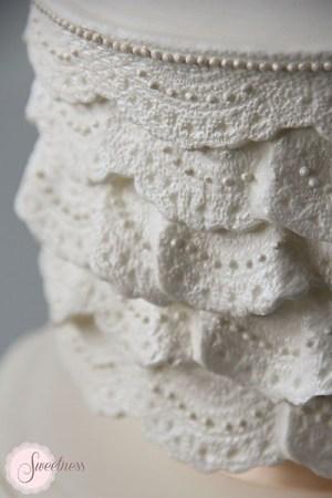 Lace Wedding Cake London