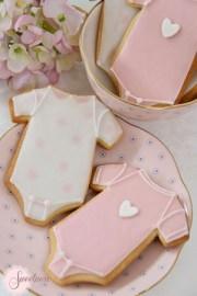 Baby Onesie cookies, Baby shower cookies London
