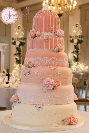Birdcage wedding cake