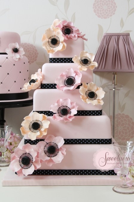 Pink wedding cake, Cake Company London
