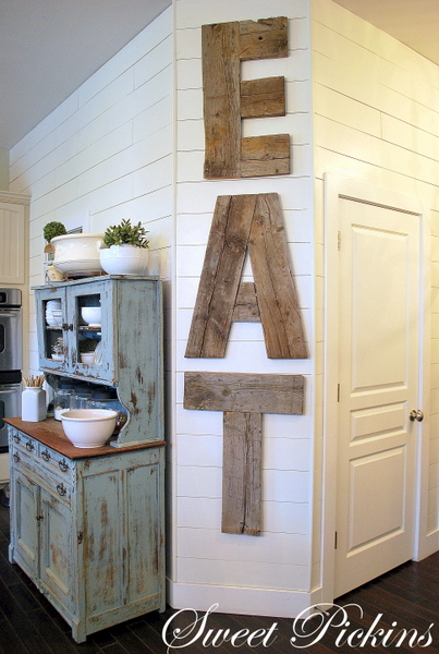 {EAT} – letters from reclaimed lumber | Sweet Pickins Furniture - EAT} €� Letters From Reclaimed Lumber Sweet Pickins Furniture