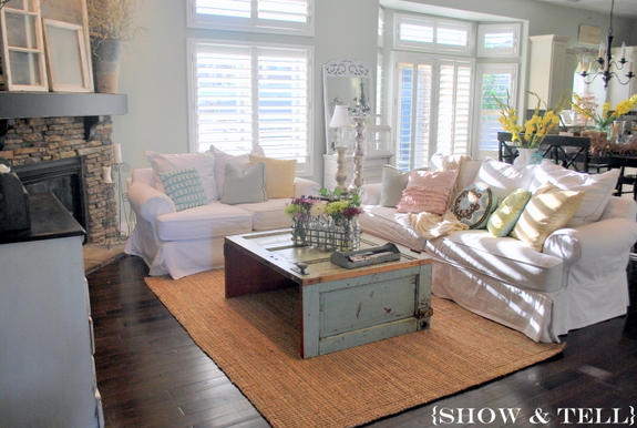 family room paint color} – before & after | sweet pickins furniture