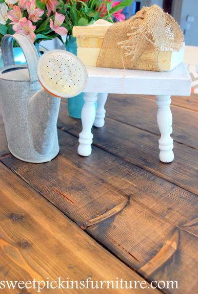 Sweet Pickins - using steel wool to stain wood