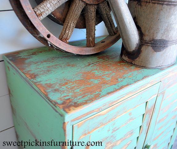 Sweet Pickins - Milk Paint Cabinet