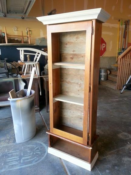 Sweet Pickins gun cabinet transformation