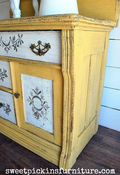 Sweet Pickins Milk Paint - Marigold and Light Cream 2