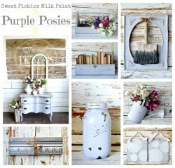 Sweet Pickins Milk Paint - Purple Posies