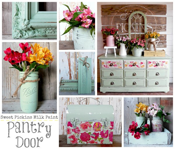 Sweet Pickins Milk Paint - Pantry Door
