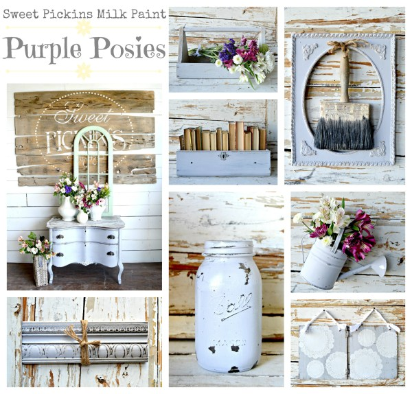 Sweet Pickins Milk Paint - Purple Posies