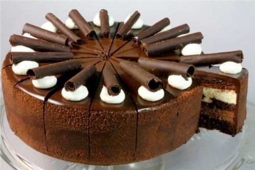 Triple Choc Mousse Cake