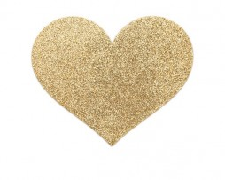 Bijoux Indiscrets Flash - Heart Gold Nipple Covers