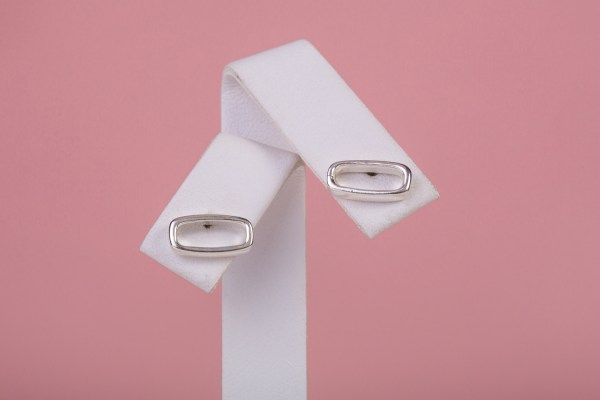Rounded Rectangle Stud Earrings