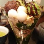 日本茶カフェ 一葉『抹茶チョコレートパフェ』