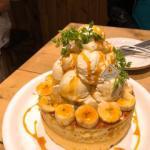 アクイーユ『バニラアイス&ホイップ&バナナパンケーキ』