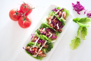 Walnut tacos are so quick and easy to make. Combine the walnut and spice mix with any vegetables and a variety of taco shells to provide choices for everyone