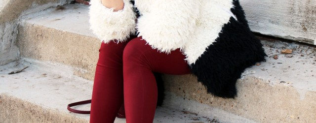 faux fur statement coat