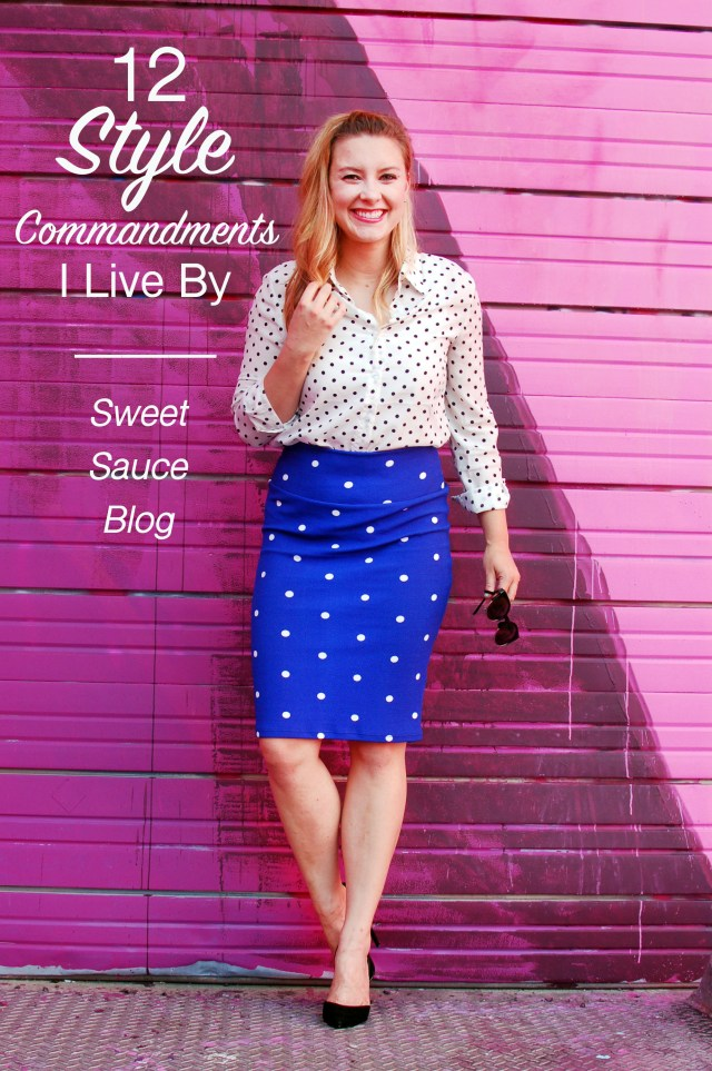 style commandments to live by