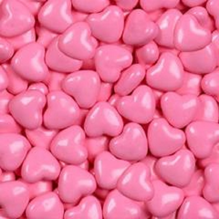 Celebration Shimmer Light Pink Candy Hearts Pink Candy