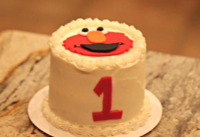 Elmo Smash Cake Sweet Smorgasbord