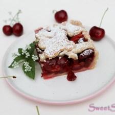 Kirsch-Erdbeer-Tarte … (vegan)