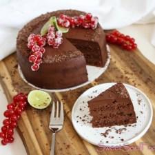 Schoko-Limetten Fudge Kuchen … (vegan)