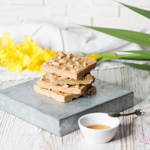 Bohnen-Blondies mit Yuzu – gesunde Blondies … (vegan)