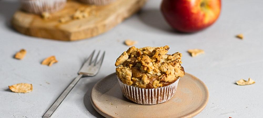 Apfelmuffins mit Streusel … (vegan)
