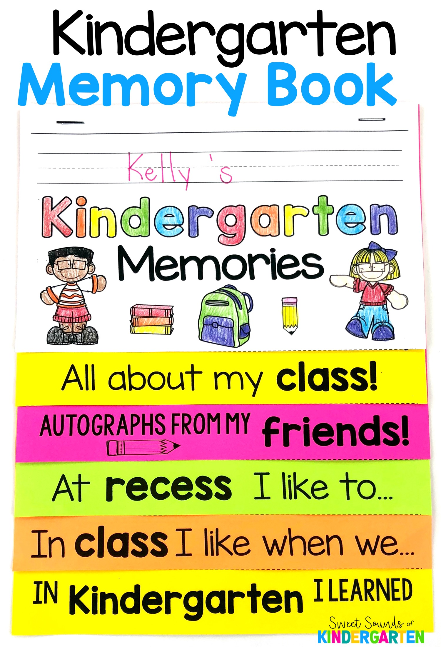 Kindergarten End Of The Year Memory Books