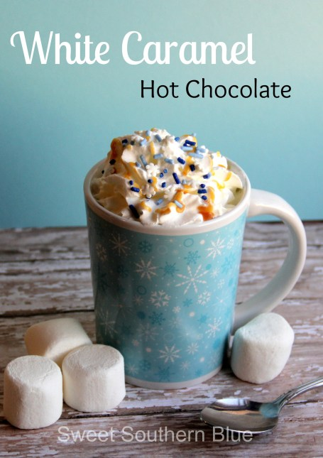 white caramel hot chocolate