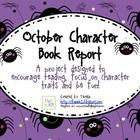 Character Traits October Book Report