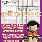 FREEBIE: Bats {Reading passage with Common Core Aligned Qu