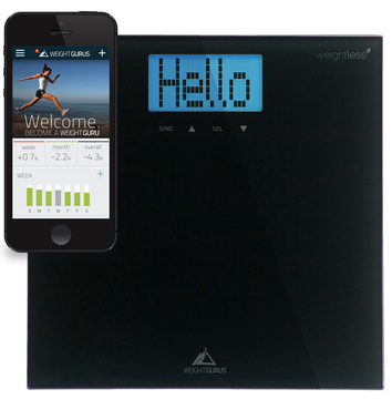 Take control! Weight Gurus Smartphone Connected Digital Bathroom Scale with Weightless Technology Review