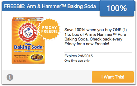 Save 100% when you buy 1lb. box of Arm & Hammer Pure Baking Soda.