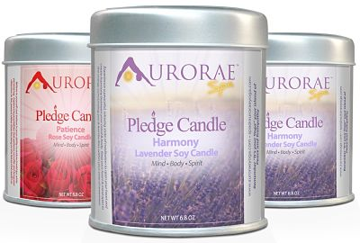 Loving My Scented Soy Wax Meditation Candle Gift Set by Aurorae