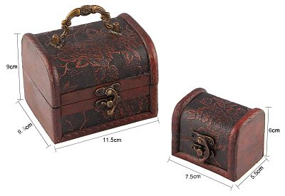 Review of Valdler's Antique Wooden Embossed Flower Pattern Jewelry Boxes