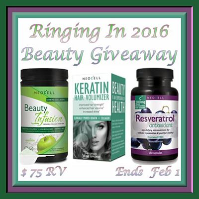 $75 Prize Package in the Ringing In 2016 Beauty Giveaway
