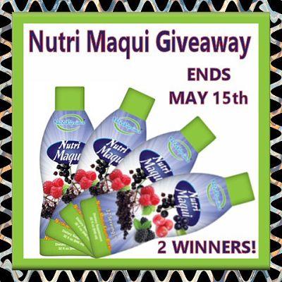 2 Winners! Nutri Maqui Giveaway Ends 5/15