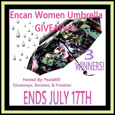 3 Winners Will Be Singing In The Rain With Their #EncanWomen Umbrella When The #Giveaway Ends 7/17
