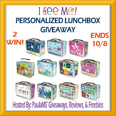Enter to be 1 of 2 who will #WIN the I See Me Personalized Lunchbox #Giveaway on 10/15 #iseemegifts
